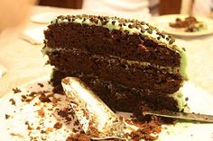Andes Mint Chocolate Chip Cake