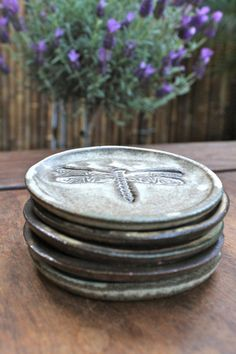 Ready to Ship  Set of 5  Ceramic Ring Dish  Soap by MalenkaDesign, $53.00