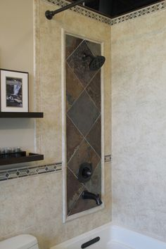 shower-wall, like the details around shower for accent