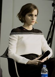 Hair Short Emma Watson Style 68 Ideas For 2019 Emma Watson Short Hair, Emma Watson Style, Emma Watson Pixie, Emma Watson Fashion, Ema Watson, Emma Love, Corte Y Color, Le Jolie, Woman Crush