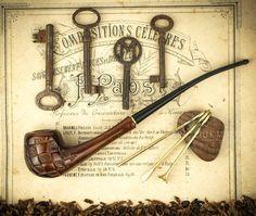 . Pipa de madera tallada. Pipas de tabaco.