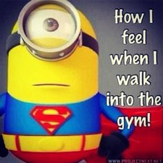 For all the minion fans and beast mode exercise fiends, we have a nice combo for you guys. We have 10 minion exercise quotes that should motivate you into having the body you want.we hope. Gym Memes, Gym Humor, Workout Humor, Fitness Humor, Minion Humor, Gym Fitness, Fitness Pics, Funny Fitness, Diet Humor