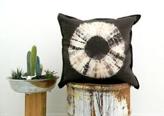 NOMAD . tie dye cushion cover . pillow . throw by bohemianbabes