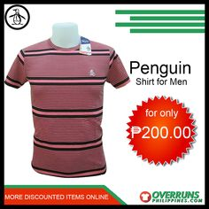 Shop our high-quality Penguin Casual t-Shirt for men at affordable prices. Discover our fashionable items in our large selection at OverrunsPhilippines. Shop now and get big discounts! Fashion Bazaar, Penguin T Shirt, Men's Shirts, Casual T Shirts, Penguins, Latest Trends, Shop Now, Comfy, Men Shirts