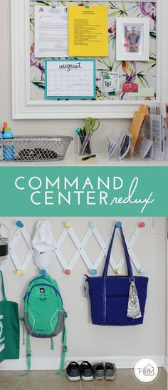 Command Center | The Homes I Have Made Family Command Center, Command Centers, Hallway Decorating, Decorating Your Home, Filofax, Declutter Your Life, Ideas Para Organizar, Organizing Your Home, Organizing Tips