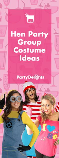 Planning a hen party and looking for some good hen do costume ideas? Take a look at our hen party group costume ideas for inspiration!
