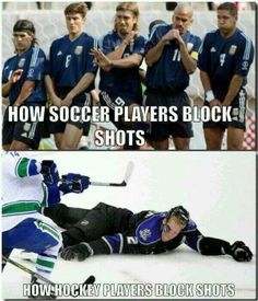 Upfront Cool — Soccer vs. Hockey