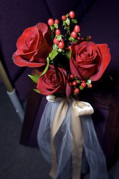 Wedding, Flowers, Red, Ceremony, Roses - Photo by Everlasting Images