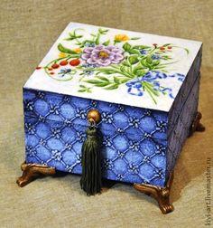 "Шкатулка ""Старый фарфор"" (продана) - шкатулка,шкатулка для украшений,шкатулка для мелочей"