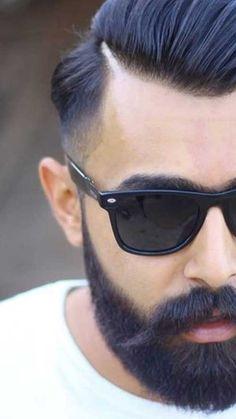 Men Undercuts #beard #barbas