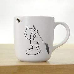 Mr. P Fly Fighter #Mug by PROPAGANDA  His new mission is to turn a fly with a spoon! #coffeemug