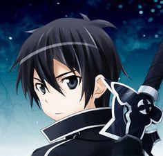 "Kirito (キリト, Kirito?) aka the Black Swordsman is the main protagonist of the Sword Art Online light novel, anime and manga series. His name, Kirito, was taken from his real name Kirigaya Kazuto (桐ヶ谷 和人, Kirigaya Kazuto?). ""Kiri--"" from Kirigaya and ""----to"" from Kazuto. He was chosen as one of the 1,000 beta testers for the closed beta of «Sword Art Online», the first ever VRMMORPG for the NerveGear. Kirito Kirigaya, Kirito Sao, Anime Art Girl, Anime Guys, Manga Anime, Fate/stay Night, Arte Online, Sword Art Online Wallpaper, Dragon Ball"