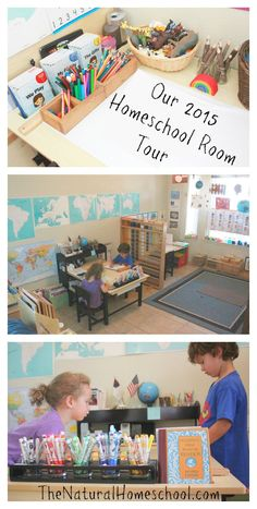 Welcome to our homeschool room! We are so happy and proud to show you what our learning space looks like! It isn't perfect, but it works very well for us. I will try my best to explain everything and if you still have questions, by all means, I'm happy to answer any questions.