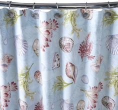 Add an eco-friendly touch to your bathroom with Cuddledown's shower curtain made of organic cotton.