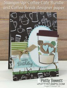 Coffee Cafe Designer Paper card idea