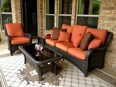 Nutmeg Brown stain on the deck - clear Thompson's Water Seal Fabric Seal protecting the pillows!
