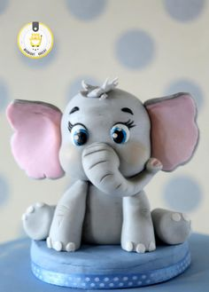 55 Ideas For Baby Shower Cupcakes Fondant Elephant Cakes Fondant Cupcakes, Fondant Cake Toppers, Fondant Figures, Fondant Baby, Cupcake Toppers, Baby Cake Topper, Fondant Rose, Cake Baby, Fondant Flowers