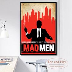 """""""Mad Men Hot TV Series Show Art Painting Vintage Canvas Poster Wall Home Decor"""" Canvas Poster, Poster Wall, Canvas Art Prints, Vintage Canvas, Vintage Wall Art, Modern Oil Painting, Wall Art Pictures, Modern Wall Art, Mad Men"""