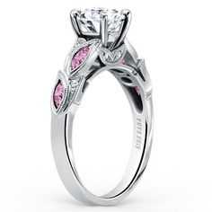 Kirk Kara Dahlia Marquise Shaped Pink Sapphire Diamond Engagement Ring · K155PDR · Ben Garelick Jewelers