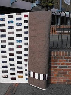 The Aftercraft: Silk tie Quilt