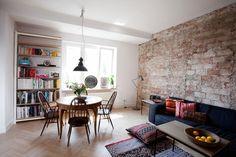 Apartamento de um quarto com linda parede de tijolinhos - limaonagua