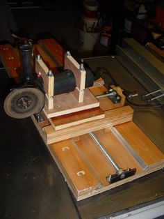 Cross slides grinder support, wooden made Drill Press Table, Milling, Projects To Try, Tools, Instruments