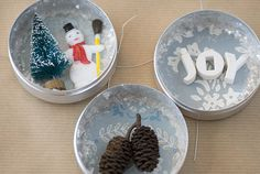 Shadowbox ornaments using watchmaker tins. What else could I put inside?