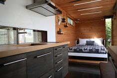 Check out this awesome Hokura PDX Container Home. Located in Portland OR and built by the awesome people of This is another Steel Box contstructed home. Let us know what you think of this place. Shipping Container Cabin, Container House Plans, 40ft Container, Container House Design, Tiny House Design, Container Architecture, Living Styles, Tiny House Plans, Modular Homes
