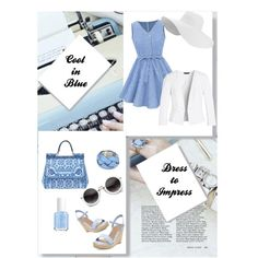 Blue Perfection by chanlee-luv on Polyvore featuring polyvore fashion style White House Black Market Dolce&Gabbana Essie