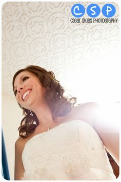 Bride- Clear SKies Photography Wedding
