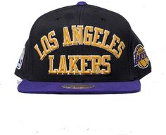 size 40 b0a91 5c1a2 Official Mitchell   Ness Los Angeles Lakers Men s Baseball Cap NBA  Basketball Black Black One size
