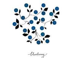 Blueberry Art print fruit art print Fruit by dekanimal on Etsy L'art Du Fruit, Fruit Art, Fruit Illustration, Botanical Illustration, Kitchen Art Prints, Fruits Drawing, Illustration Botanique, Geometric Art, Botanical Art