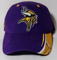 Minnesota Vikings Purple Embroidered NFL Strapback Cap 100% Cotton Vintage 80's #SportsSpecialies #MinnesotaVikings