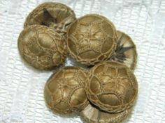 Amazing Lot O 7 Antique Victorian Mourning Human Hair Detailed 6 Star Buttons | eBay