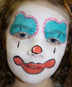 Trucco di Halloween per bambini da pagliaccio