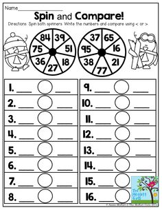 Spin and Compare- Comparing numbers has never been this FUN!