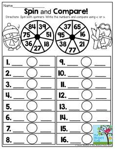 Fall Math Printables FREEBIE. Comparing 3 digit numbers