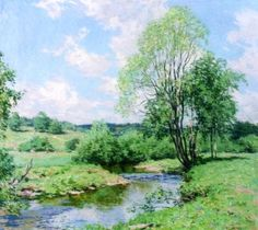 """Green Idleness "" ... by Willard Leroy Metcalf"