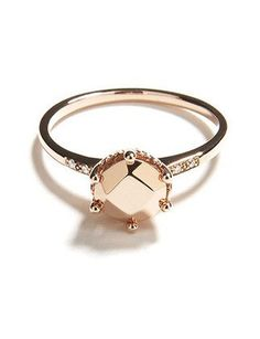 """Quiet and unassuming—but subtly, freakishly gorgeous.  """"HAZELINE"""" SOLITAIRE, $1,100, ANNASHEFFIELD.COM"""
