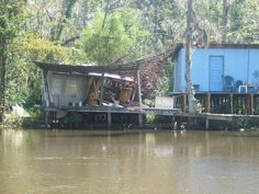 Swamp Shacks - who doesn't want a home on the water?