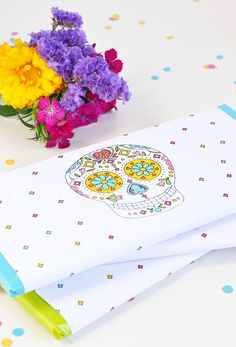 Make   give | Sugar skull chocolate wrappers
