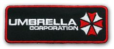 RESIDENT EVIL Umbrella Corp LARGE MOVIE PATCH - Embroidered Iron-On Patch