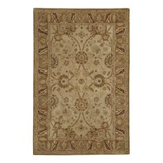 The elegant pattern comes from 19th century Anatolia, but the fashion-forward colors are on trend for today. Chocolate is highlighted with pops of teal, caramel and dark taupe. Light Olive has warm grey and caramel accents. Both are hand tufted of thick, 100% wool. Cotton canvas backed for added durability. Use of a Rug Pad is recommended. Sizes are approximate. Imported.