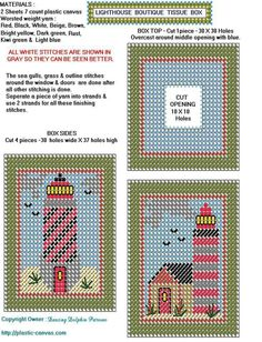 Plastic Canvas Coasters, Plastic Canvas Ornaments, Plastic Canvas Tissue Boxes, Plastic Canvas Christmas, Plastic Canvas Crafts, Plastic Canvas Patterns, Tissue Box Holder, Tissue Box Covers, Cross Stitch Needles