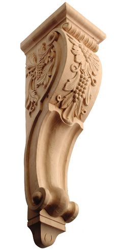 """Corbel with Grapes / Extra Large / 26 1/2""""H X 7-3/8""""W X 8-1/2""""D - CorbelPlace.com offers a variety of quality home improvement products that are available for purchase online.   Corbel Place"""