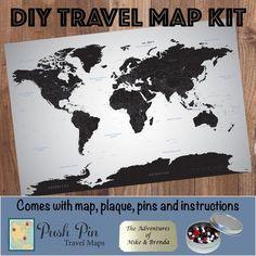 Diy earth toned world push pin travel map kit travel maps and earth diy earth toned europe push pin travel map kit gumiabroncs Gallery