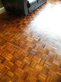 Finished with Liberon floor oil