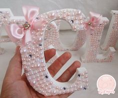 Letter Height Decorated the way you want :) I look forward to making . - Letter Height Decorated the way you want :] I look forward to making your treat! Diy Letters, Letter A Crafts, Wood Letters, Baby Crafts, Diy And Crafts, Arts And Crafts, Deco Floral, Baby Decor, Baby Shower Favors