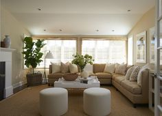 Living room- I love wrap around couches