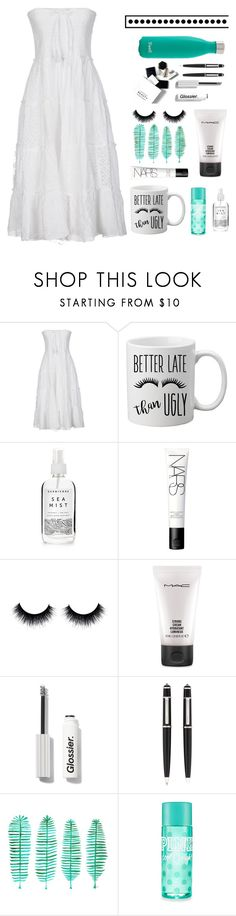 """""""BABY THERES NOTHING WE CAN'T GET THROUGH"""" by macarons-and-mermaids ❤ liked on Polyvore featuring Peace and Love by Calao, Herbivore, NARS Cosmetics, MAC Cosmetics, H&M, Cartier and S'well"""